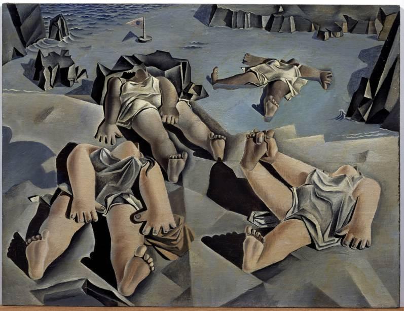 Figuras tumbadas en la arena (1926)