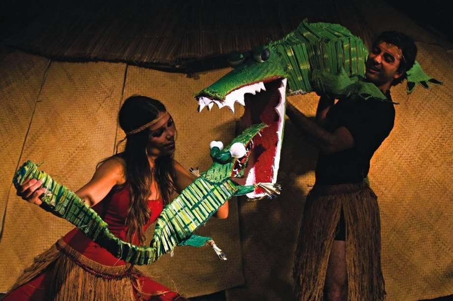 Para crianças: Ana Elisa e Ronald Liano em Filhotes da Amazônia