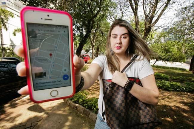 flavia guadio waze google maps rota pé