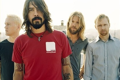 A banda americana Foo Fighters