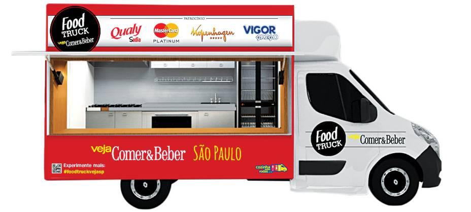 Food truck de VEJA SÃO PAULO: caminhão estaciona na Casa Cor sempre nos fins de semana