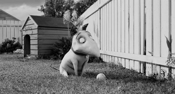 Frankenweenie, de Tim Burton: animação em preto e branco