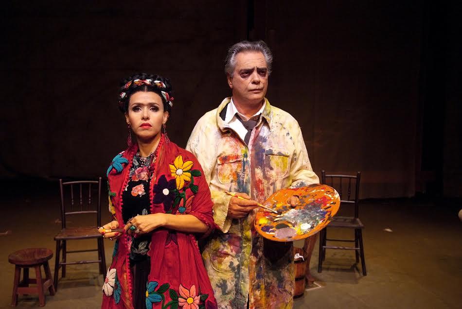 """Frida y Diego"": Leona Cavalli e José Rubens Chachá no Teatro Raul Cortez (Foto: Lenise Pinheiro)"