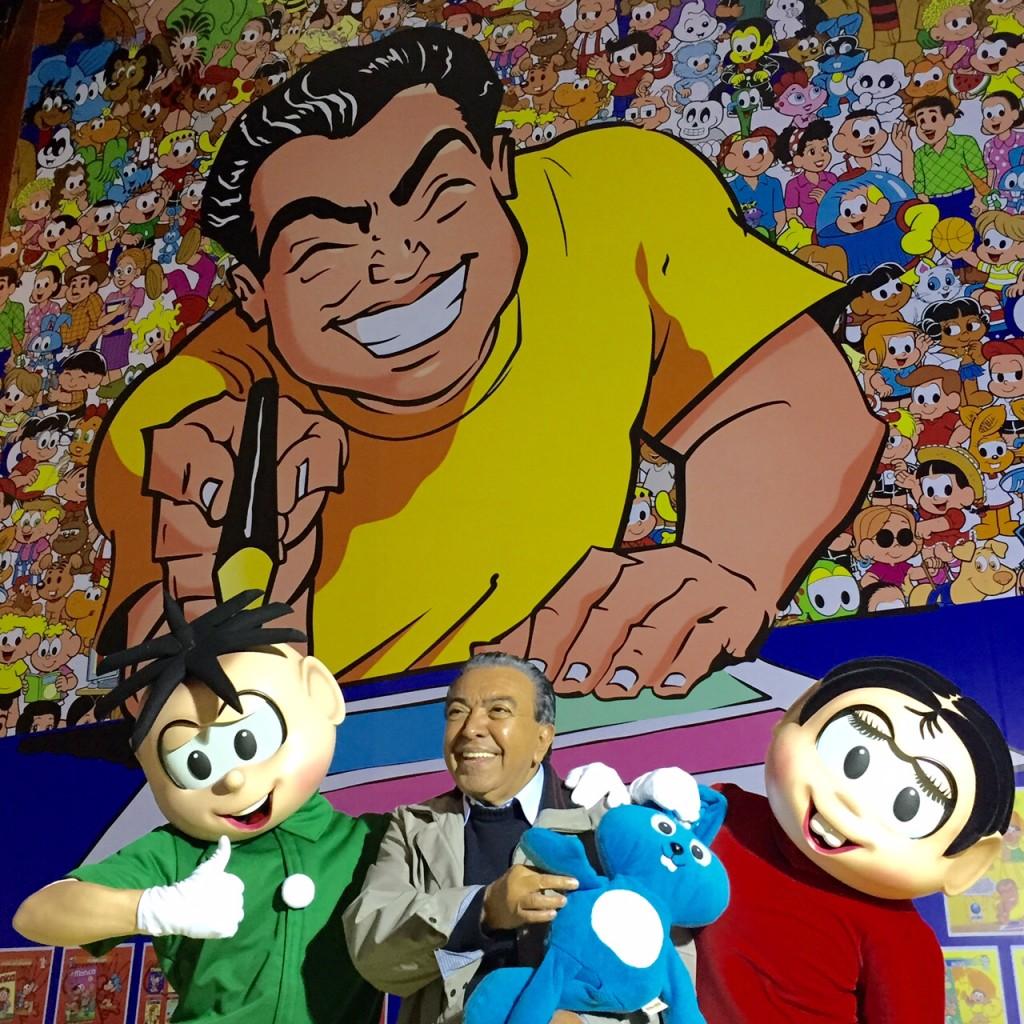 Mauricio de Sousa e os personagens no SP Market: inauguração em 5 de julho
