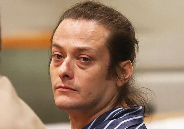 Edward Furlong, em 2013, após ser detido por violência doméstica contra a namorada
