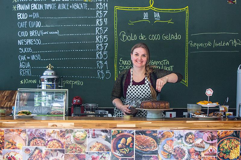 A produtora culinária Tatiana Damberg está à frente da nova casa