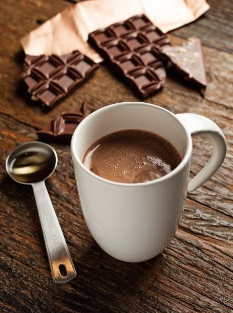 Uma das seis opções de chocolate quente