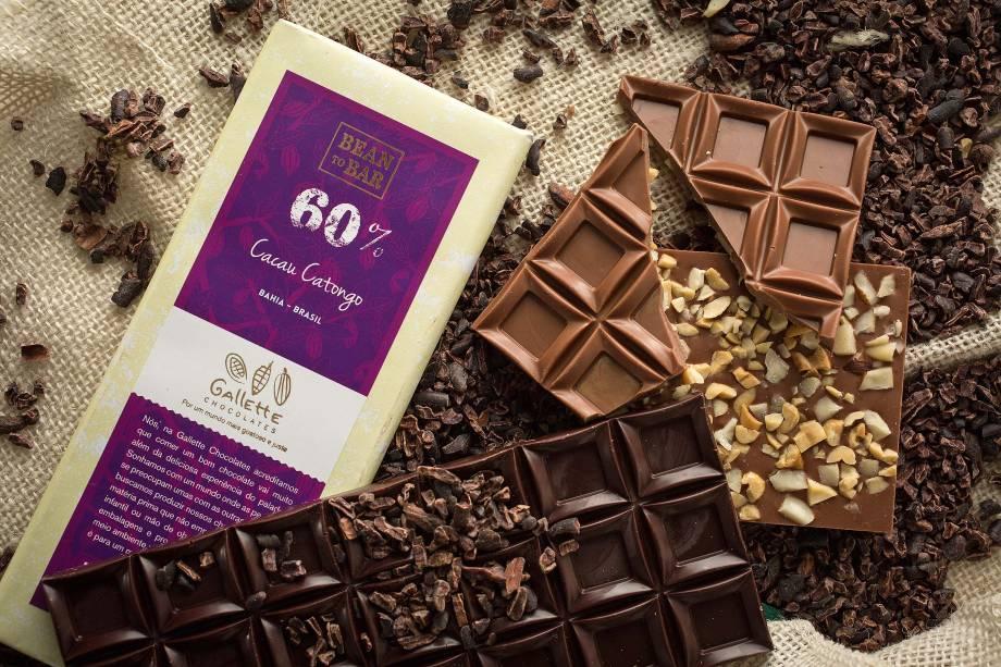Chocolate dos bons: em diferentes gradações de cacau