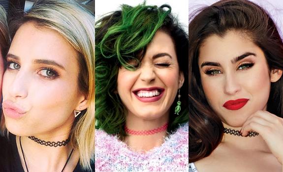 Emma Roberts, Katy Perry e Lauren Jauregui (5th Harmony)