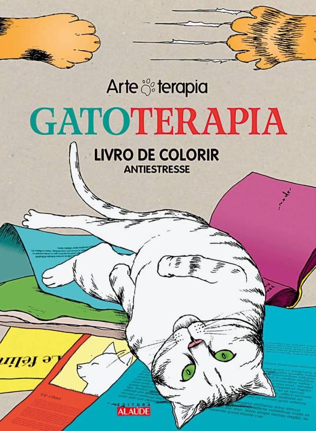 gatoterapia livro de colorir