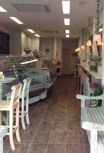 Ambiente da sorveteria Gelati Italia, em Pinheiros