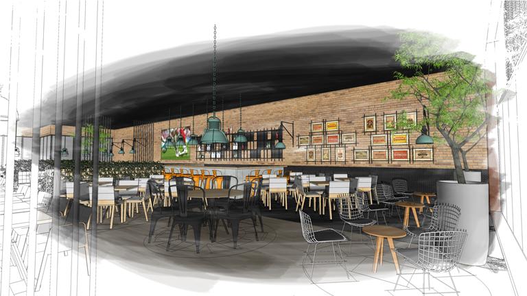 Projeto da nova loja do Tatuapé: capacidade para  250 lugares e mesa de snooker