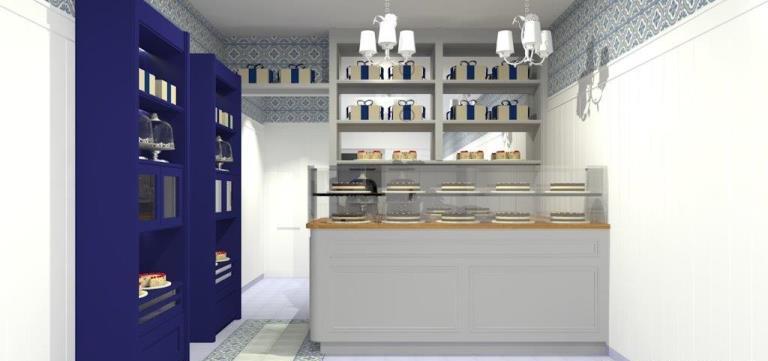 Projeto da nova loja: salão apenas para entregas no projeto de Fernanda Dabbur