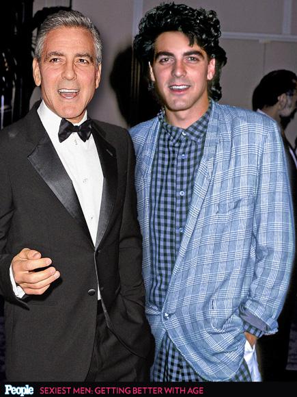 George Clooney em 2013 e em 1986
