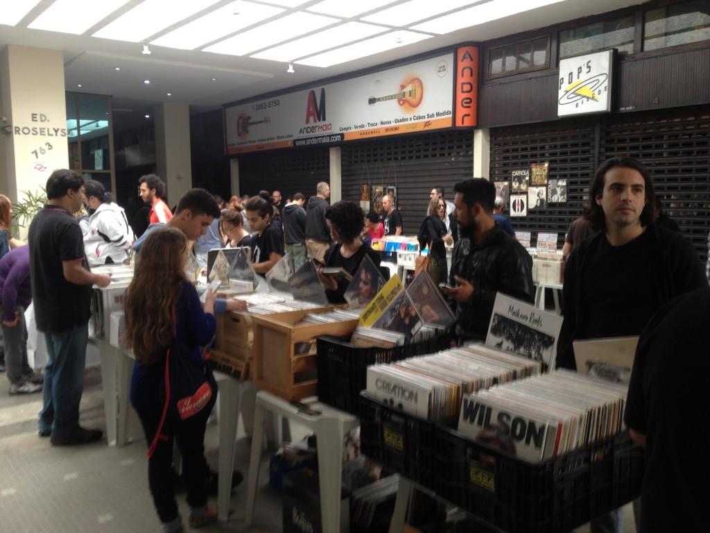 Feira de discos: hoje até as 20h (Foto: Anderson Santiago)
