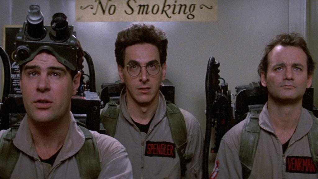 Dan Aykroyd, Harold Ramis e Bill Murray: os caça-fantasmas
