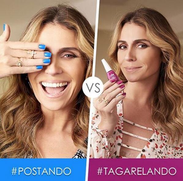Em seu Instagram, a atriz incentiva as seguidoras a contar qual esmalte elas mais gostaram