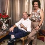 Com a mulher dona Cecilia, companheira da vida inteira (Foto: Raul Junior)