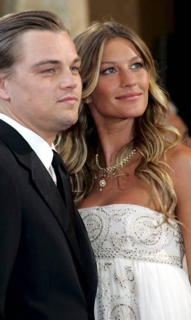 Antes de namorar Tom Brady, Gisele teve um relacionamento de cinco anos com o ator Leonardo DiCaprio EFE