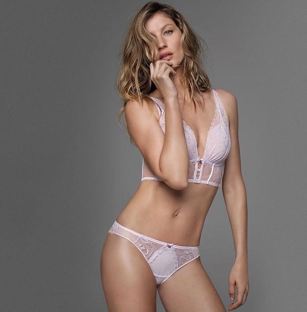 Gisele Bündchen mostra sua linha de lingerie (Foto: Reprodução/Instagram)