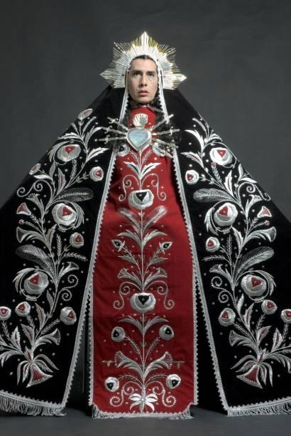 Retrato de Giuseppe Campuzano como Virgen Dolorosa