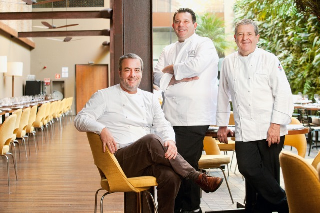 Barros, Barletti e Suaudeau: novidade no grupo Egeu (Foto: Fernando Moraes)