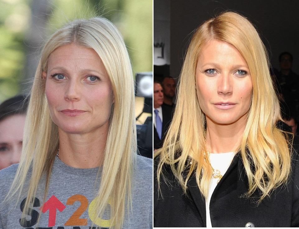 As rugas de Gwyneth Paltrow foram atenuadas e um corte de cabelo mais moderno também melhorou sua aparência