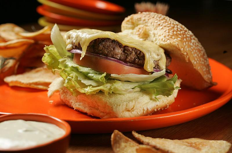 Hambúrguer da casa