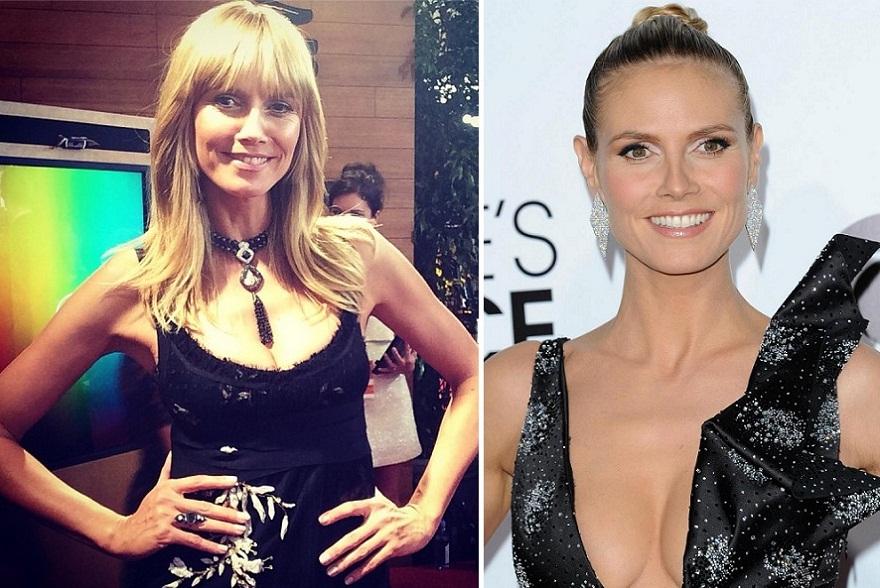 Heidi Klum - Antes e Depois