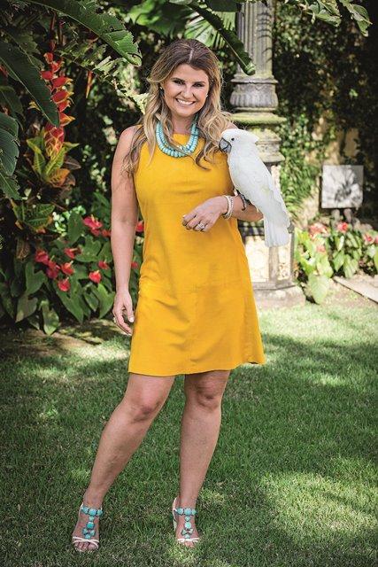 Helena Caio lança marca de roupas confeccionadas em couro (Foto: Leo Martins)