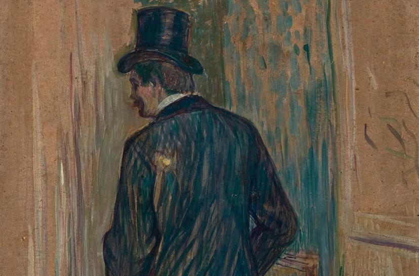"""Monsieur Louis Pascal Visto de Costas: pintura do francês Toulouse-Lautrec na mostra """"Exercícios de Olhar"""""""