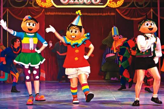 Magali, Mônica e Cebolinha no picadeiro: personagens apresentam Turma da Mônica no Mundo do Circo