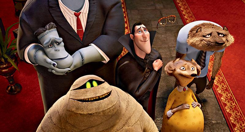 Frankenstein, Drácula,o Homem Invisível,o Lobisomem e suaesposa e a Múmia:reunião excêntrica
