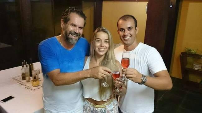 Hugo Gabrich, Edna Amaralina da Silveira e Altamiro