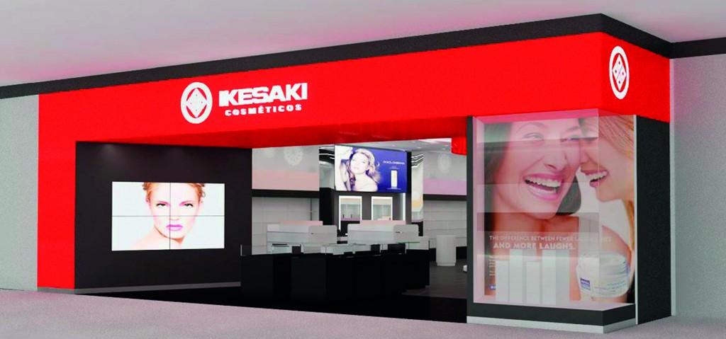 Fachada virtual da nova loja da Ikesaki (Foto: Divulgação)