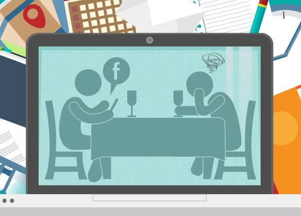 Ilustração - Viciados em tecnologia