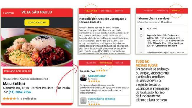Aplicativo Veja São Paulo - app vejasp - celular