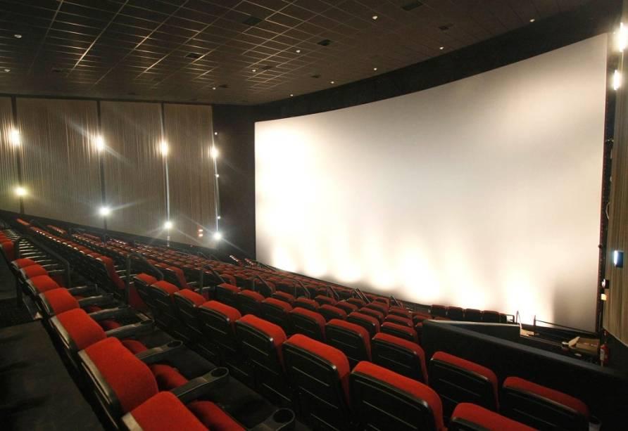 Sala IMAX: a grande atração é a tela de 14 metros de altura por 21 metros de largura