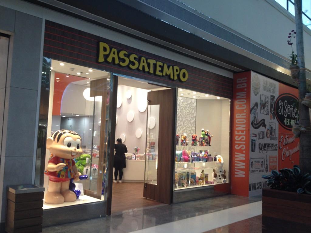 A fachada da loja Passatempo, que fica pertinho da entrada da KidZania. Foto: Meriane Morselli