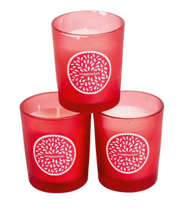 Conjunto com três velas: R$ 59,90. Imaginarium