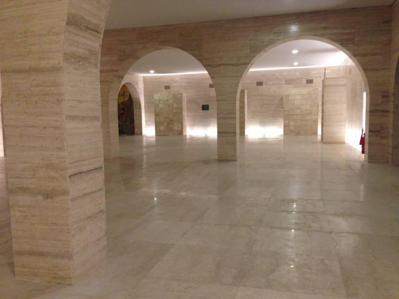 A cripta abriga grande parte dos restos mortais dos combatentes