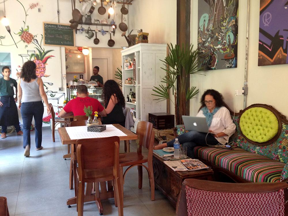 A Pérola da Rocca: espaço mistura loja e ateliê e restaurante (Foto: Mariana Oliveira)