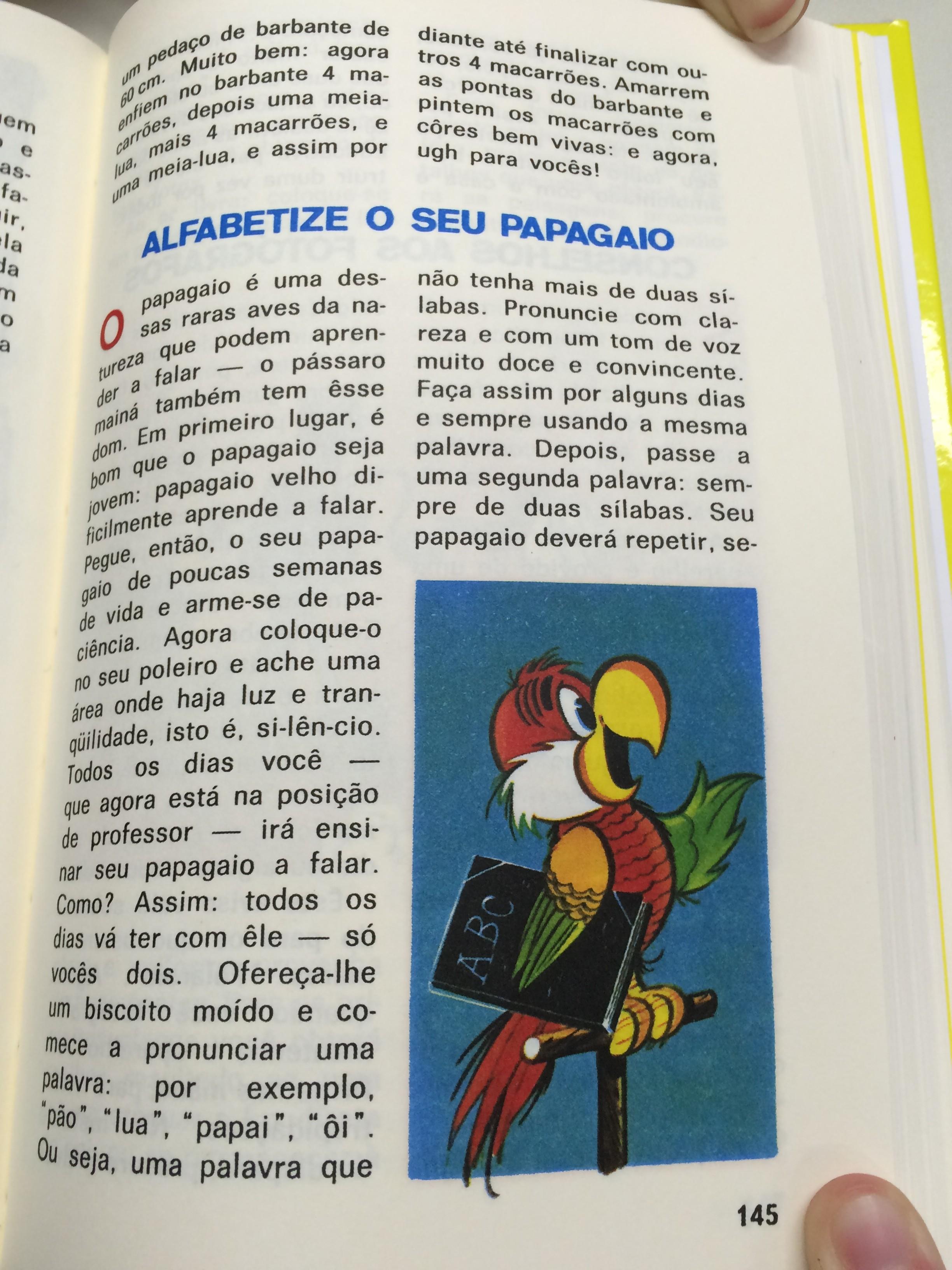 Como alfabetizar seu papagaio