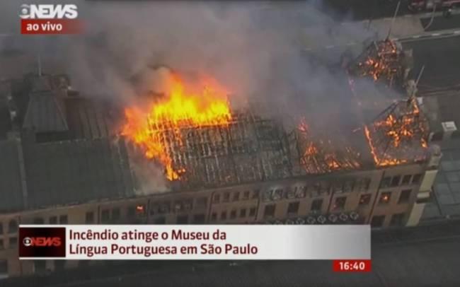 incendio museu lingua portuguesa