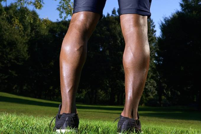 Legs of a jogger