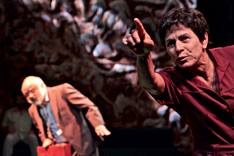 Mário Borges e Denise Weinberg na tragicomédia Isso É o que Ela Pensa