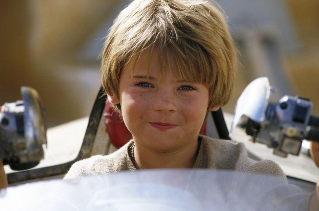 Jake no papel de Anakin Skywalker em Star Wars Episódio 1: A Ameaça Fantasma