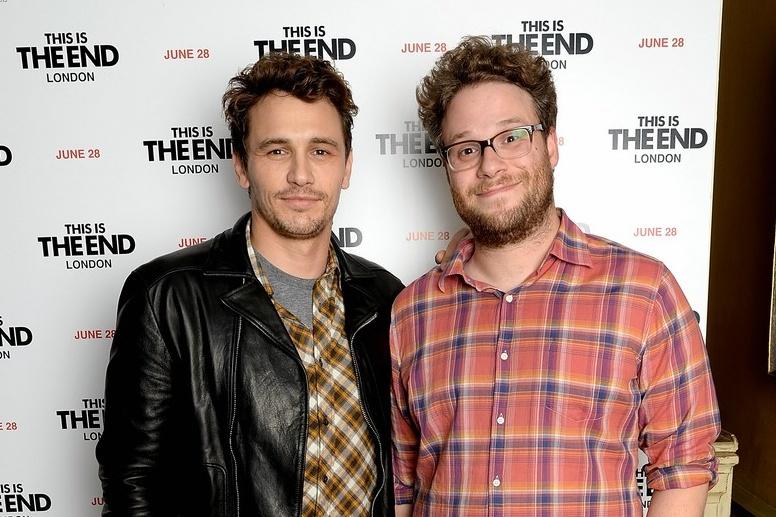James Franco e Seth Rogen na divulgação da comédia É o Fim