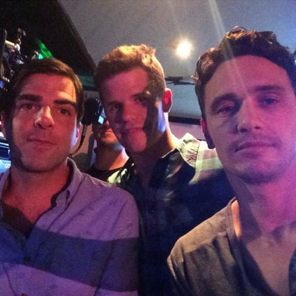James Franco postou a foto no Instagram com Zachary e Charlie