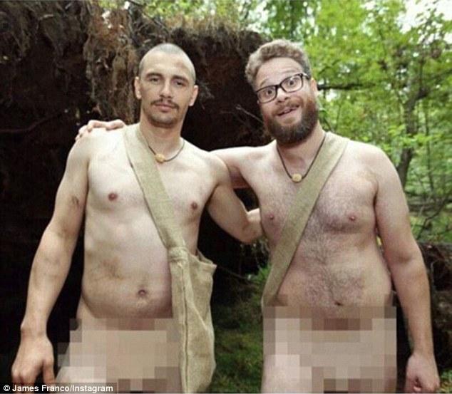 Franco e Rogen, completamente nus, para divulgar uma série do Discovery Channel
